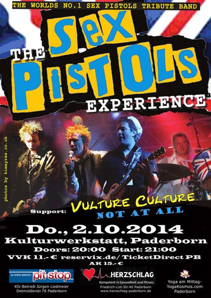 Sex Pistols Experience am 2.10.14 in Kulturwerkstatt