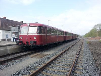 Solling-Rundfahrt mit dem Schienenbus