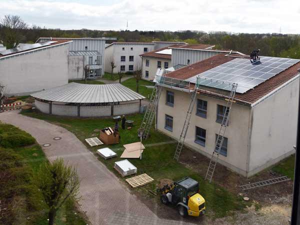 Sonnenenergie für Studentenwohnanlage