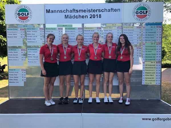 Bronze-Medaille für die Mädchenmannschaft AK 18 des Golfclubs Paderborner Land
