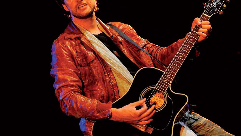 Ben Sebastian mit Gitarre