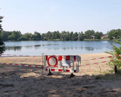 Sandstrand am Habichtsee gesperrt