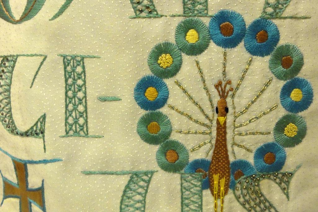 Detailansicht der Stickerei
