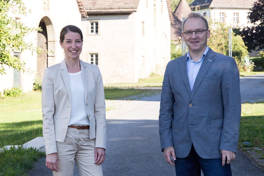 Prof. Dr. Tanja Rudolph, Oberärztin am Herz- und Diabetes-Zentrum in Bad Oeynhausen, und Dr. Detlef Michael Ringbeck, Chefarzt für Kardiologie