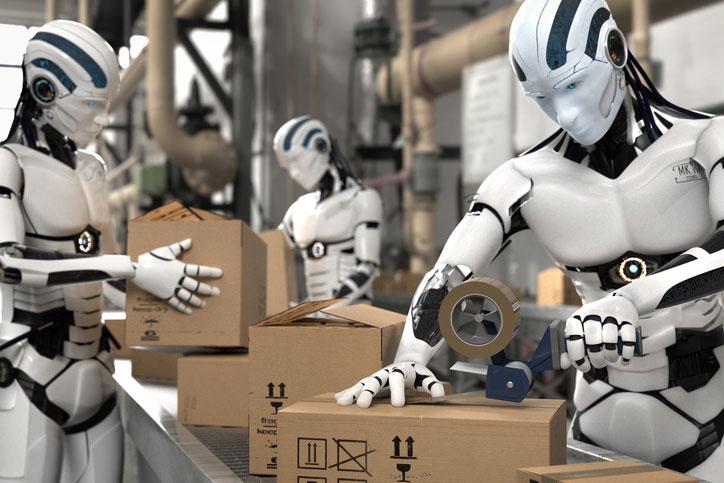 Roboter im Warenversand