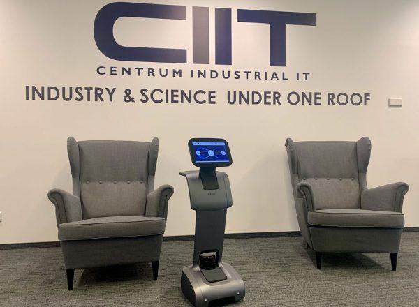 Ein Roboter als Empfangsdame