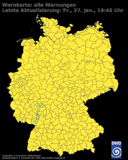Aktuelle Wetterwarnungen für Paderborn